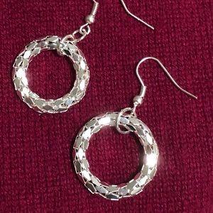 FREE w/any bundle NWOT Silver Color Hoop Earrings